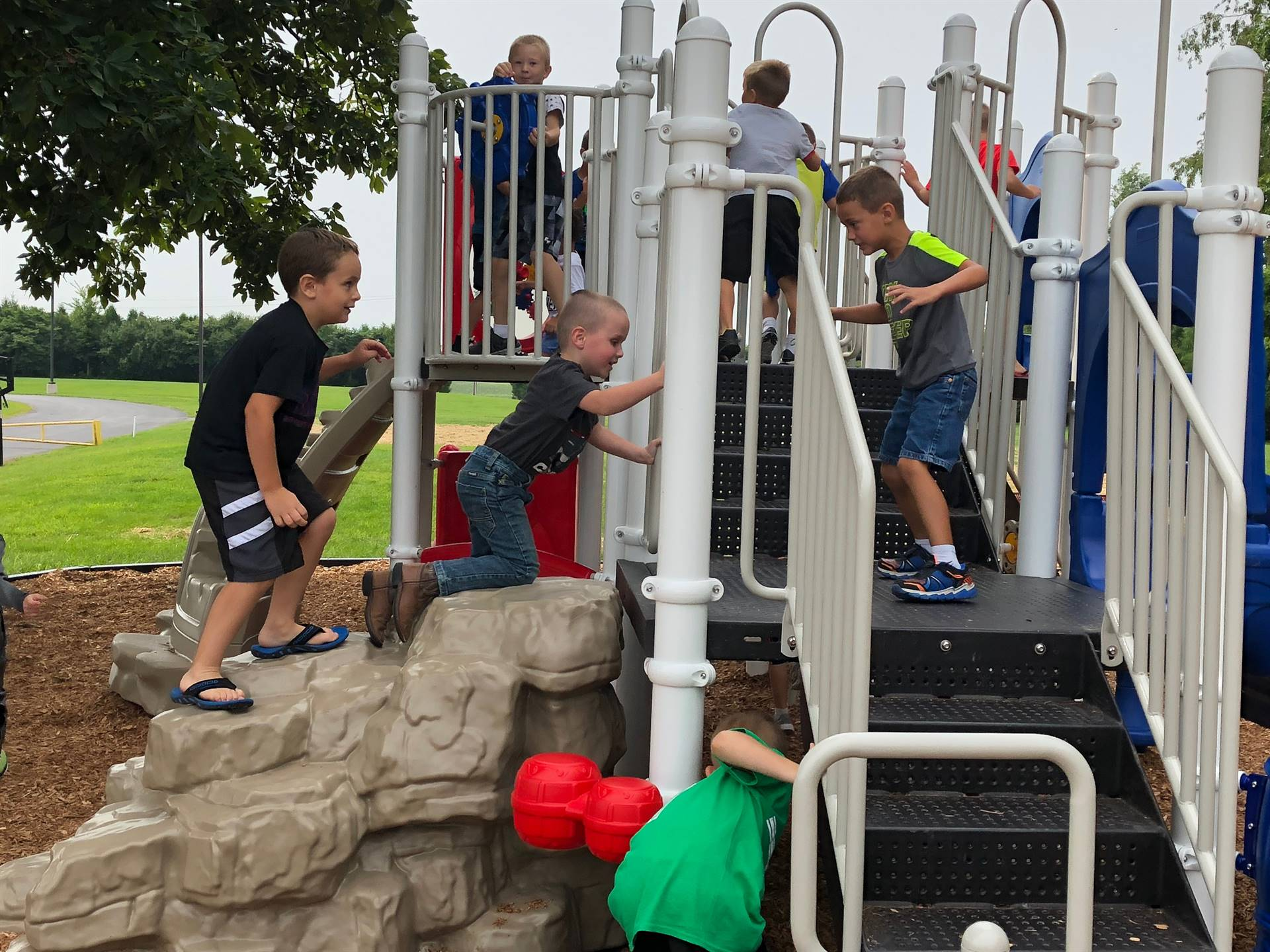 New elementary playground equipment